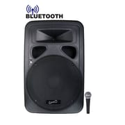 Supersonic® SC-315DJB 1600 W 15 Professional 2-Way PA/DJ Loudspeaker System With Bluetooth