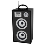 Supersonic® SC-1300K Portable Rechargeable Speaker With Karaoke & FM Radio, Silver