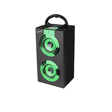 Supersonic® SC-1321 Portable Rechargeable Speaker With FM Radio, Green