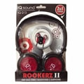 Supersonic® Rockerz 2 In 1 Deep Bass Stereo Earbud/Headphone Pack, Red