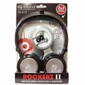 Supersonic® Rockerz 2 In 1 Deep Bass Stereo Earbud/Headphone Pack, Silver
