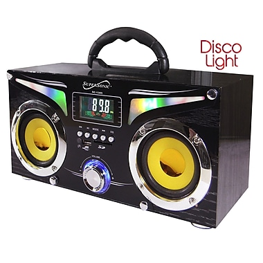 Supersonic® SC-1385 Portable MP3 Speaker With USB/SD/Aux Port