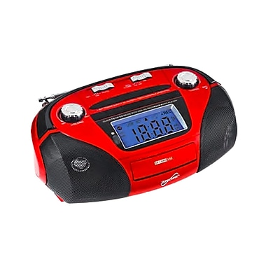 Supersonic® SC-1396 High Performance Portable Mp3 Speaker W/USB/SD/Aux, Red