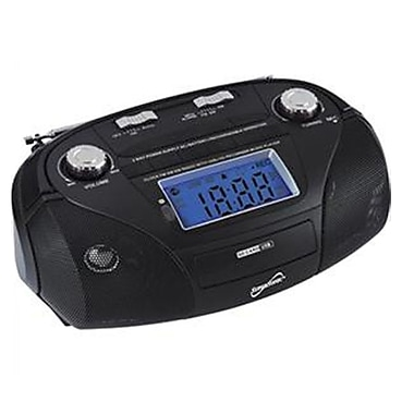 Supersonic® SC-1396 High Performance Portable Mp3 Speaker W/USB/SD/Aux, Black