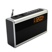 Supersonic® SC-1350 Portable Rechargeable Speaker With Alarm Clock & Fm Radio, Silver