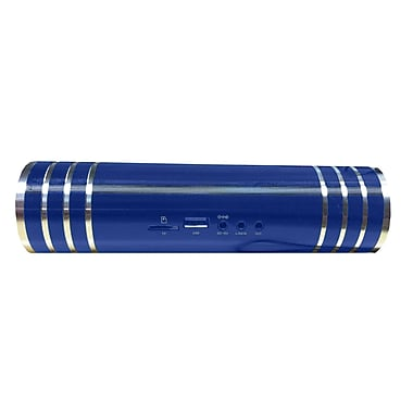 Supersonic® SC-1329 Portable Rechargeable Speaker With FM Radio, Blue