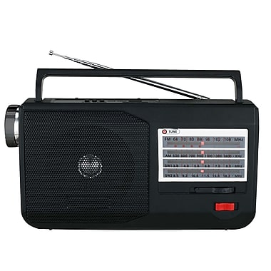 Supersonic® SC-1084 5 Band AM/FM/SW1/SW2/TV/MP3 Radio With Flashlight USB and SD Inputs