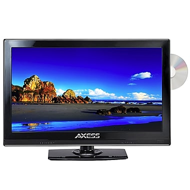 Axess® 15.4in. LED AC/DC TV With DVD Player
