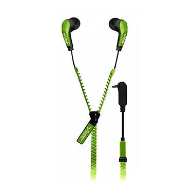 VIBE Slick Zip Cable In Ear Headphones, Green