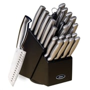 Oster® Baldwyn Cutlery Block Set, 22 Piece, Brushed Satin