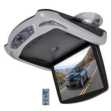 Pyle® PLRD145 13.3in. Roof Mount TFT LCD Monitor With Built In Multimedia Disc, Gray/Black/Tan