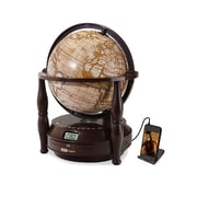 Adt Digital GL700 Antique World Globe CD Player With Radio & Line-in For MP3 Players, Brown Mahogany