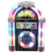 Pyle® PJCDUB25 Tabletop Retro Jukebox With CD/FM Radio/USB/SD/MP3/Aux-in For iPod, iPhone, Android