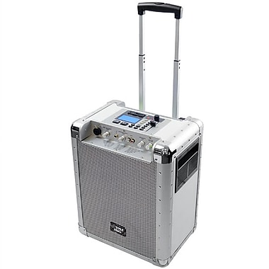 Pyle® PCMX265W White Portable PA System With USB/SD, DJ Controls and Aux Inputs, 400 W