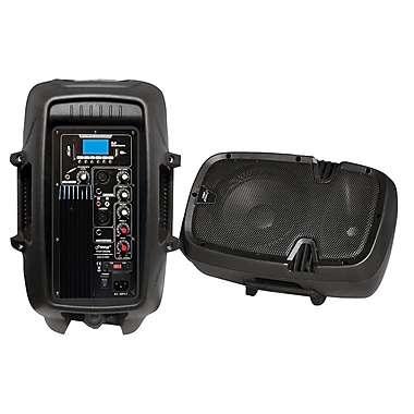 Pyle® PPHP1037UB 10in. 700 W Powered Two way Speaker w/MP3/USB/SD/Bluetooth Streaming & Record Function