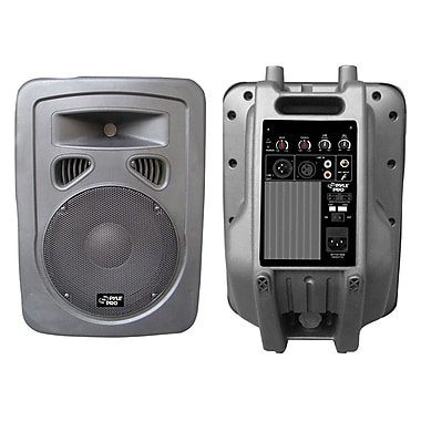 Pyle® PPHP1098A 600 W 10in. 2 Way Plastic Molded Powered PA Speaker System