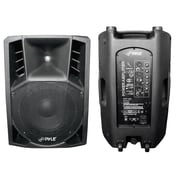 Pyle® PPHP126A 12 1000 W 2 Way Powered Plastic Molded PA Speaker With Wheels