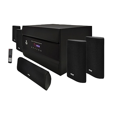 Pyle PT628A 400 W 5.1 Channel Home Theater System with AM FM Tuner CD MP3 Player