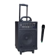 Pyle® PWMA430U Wireless Rechargeable Portable PA System With FM/USB/SD, 300 W