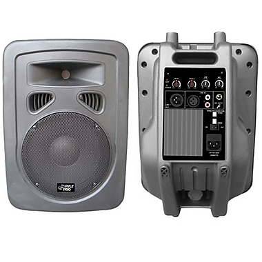 Pyle® PPHP898A 400 W 8in. 2 Way Plastic Molded Powered/Amplified Speaker System