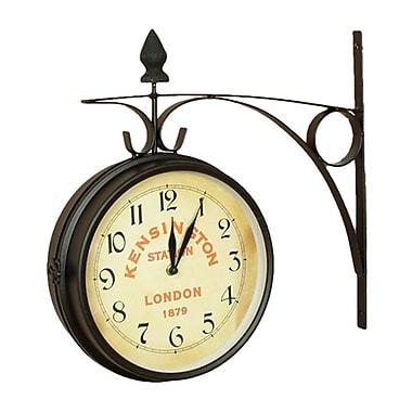 Nostalgic XH02000 Kensington Station Large Double Side Clock, Black