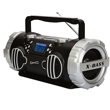 Supersonic® SC-1398 High Performance X-Bass Portable Mp3 Speaker W/USB/SD/Aux, Black