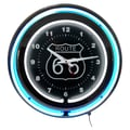 Trademark Global™ NC-1099 14in. Route 66 Circular Neon Wall Clocks With Pull Chain