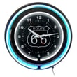 Trademark Global™ NC-1099 14in. Route 66 Circular Neon Wall Clock With Pull Chain, Blue/Black