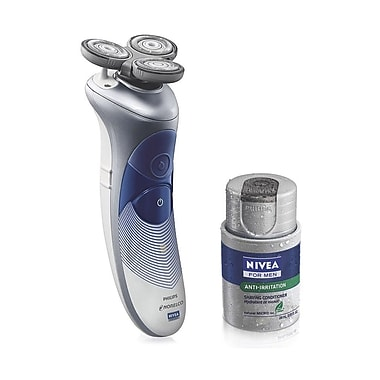 Philips Norelco Nivea Razor With Battery Indicator For Men, Blue