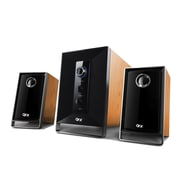 QFX BT-201 15W 2.1 Channel Speaker, Wood