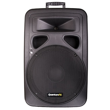 QFX BX-150 400W 2-Way Steel Framed Plastic Cabinet Passive Speaker, Black