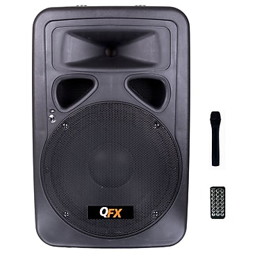 QFX SBX-1201 200 W Speaker With Built-in Amplifier, Black