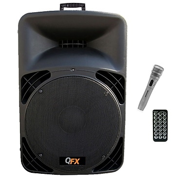 QFX SBX-1509 3000 W PMPO Speaker Built-in Amplifier