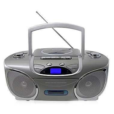QFX J-32U Portable Radio Cassette/CD/MP3 Player With USB and Radio Cassette Recorder