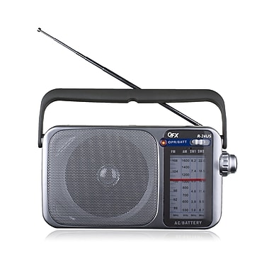 QFX R-24US AM/FM/SW1-SW2 Radio With USB/SD
