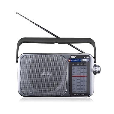 QFX R-24US AM/FM/SW1-SW2 Radio With USB/SD