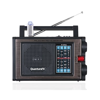 QFX R-25U AM/FM/SW Radio With USB