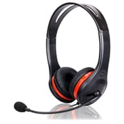 QFX H-81 PS-3 Chat and PC/MAC Headset, Black