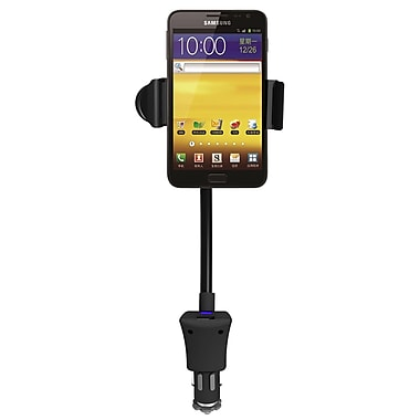 QFX CM-100USB Car Holder with USB Charger for Apple iPhone/iPod, Samsung, Nokia and HTC Smartphones, Black
