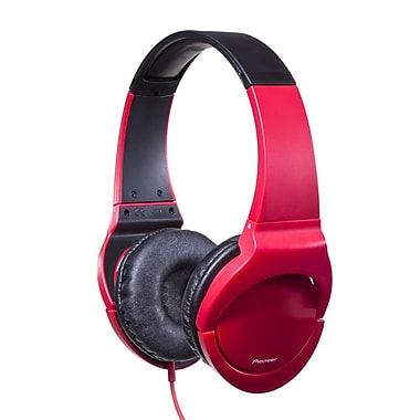 Pioneer TC209 Fully Enclosed Dynamic Headphone with Powerful Bass for True Clubbing, Red