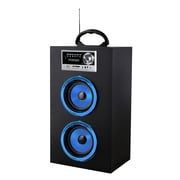 QFX CS-16US Multimedia Speaker With RM Radio, Blue