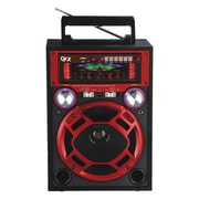 QFX CS-116 Karoke Multimedia Speaker With AM/FM/SW1-2 Band Radio, Red