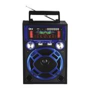 QFX CS-116 Karoke Multimedia Speaker With AM/FM/SW1-2 Band Radio, Blue