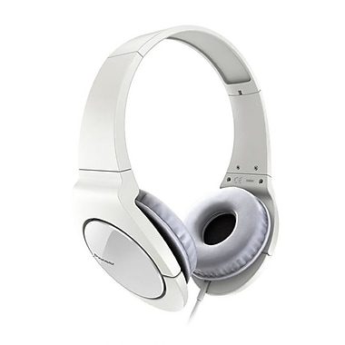 Pioneer® Fully Enclosed Dynamic Headphones With Powerful Bass For True Clubbing, White