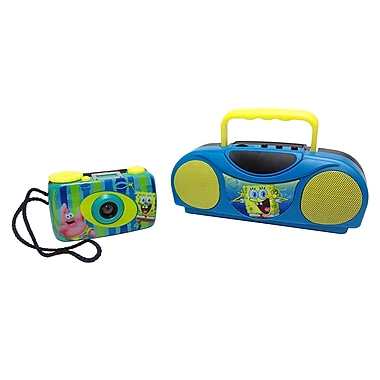 Nickelodeon 41062 SpongeBob Squarepants Camera and Radio Kit