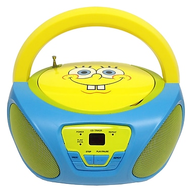 Nickelodeon 56062-GRO SpongeBob Squarepants CD Boombox With AM/FM Radio