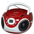 Supersonic® SC-505 Portable Audio System CD Player With Aux/AM/FM Radio, Red