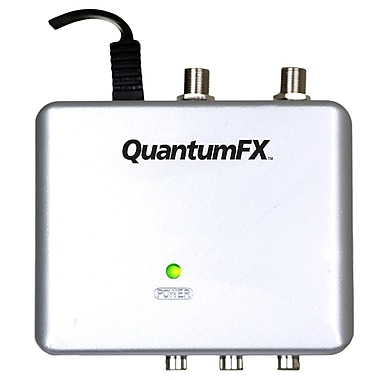 QFX RFM-3 Mini RF Modulator With S-Video Jack, Silver