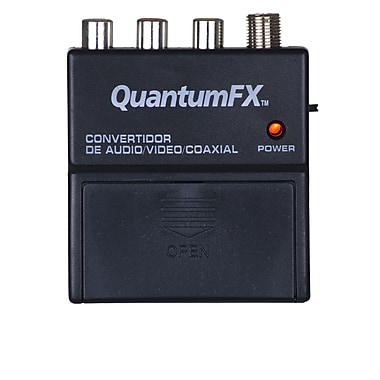 QFX RFM-5 RF Modulator With S-Video Jack, Black