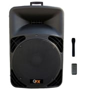 QFX SBX-1519BT 3000 W PMPO 380W RMS Speaker With Built-in Amplifier Bluetooth